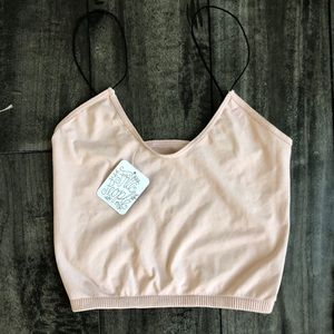 Free People Skinny Strap Cropped Cami